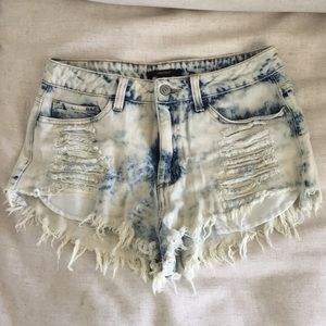 F21 Acid Wash Shorts
